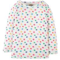 Frugi Rainbow Dot Mia Pointelle Top