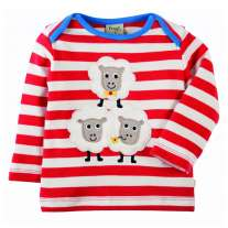 Frugi Sheep Bobby Applique Top