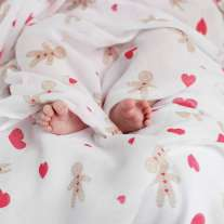 Piccalilly Gingerbread Muslin Swaddle