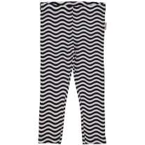 Maxomorra Black & White Waves Leggings