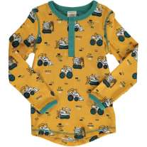 Maxomorra Brick Builders Slim Button LS Top