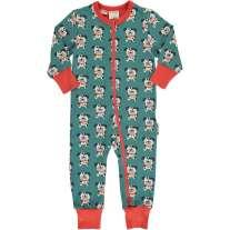 Maxomorra Dalmatian Buddy LS Zip Romper Suit