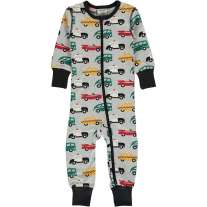 Maxomorra Traffic LS Zip Romper