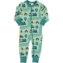 Maxomorra Old Town LS Zip Romper Suit