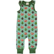 Maxomorra Busy Squirrel Dungarees
