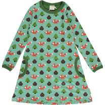 Maxomorra Busy Squirrel LS Dress