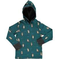 Maxomorra Curious Otter LS Hooded Top