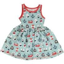 Maxomorra Blue Ocean Sleeveless Spin Dress
