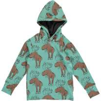 Maxomorra Mighty Moose LS Hooded Top
