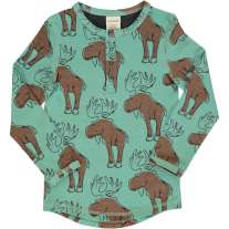 Maxomorra Mighty Moose LS Slim Button Top