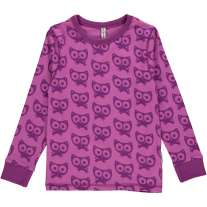 Maxomorra Purple Cats LS Top