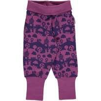 Maxomorra Purple Landscape Pants Rib
