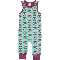 Maxomorra Purple Pansy Dungarees