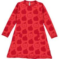 Maxomorra Red Apples LS Dress