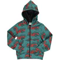 Maxomorra Vintage Fire Truck Hooded Cardigan