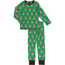 Maxomorra Classic Mushroom LS Pyjamas
