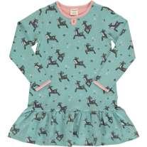 Maxomorra Dashing Reindeer LS Frill Dress