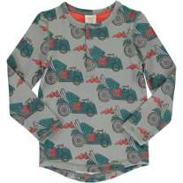 Maxomorra Hot Rod Slim Button LS Top