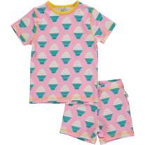 Maxomorra Ice Cream Shortie Pyjamas