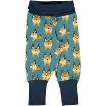 Maxomorra Lively Lynx Rib Pants