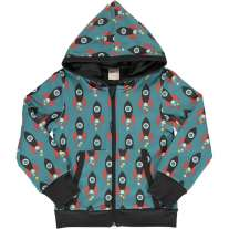 Maxomorra Moon Rocket Hooded Cardigan