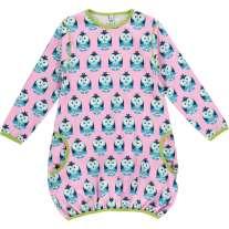 Maxomorra Owl LS Balloon Dress