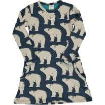 Maxomorra Polar Bear LS Dress