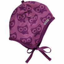 Maxomorra Purple Cats Baby Bonnet Hat