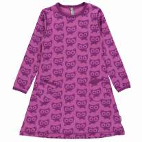 Maxomorra Purple Cats LS Dress