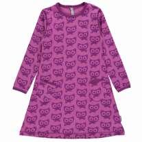 Maxomorra Purple Cats LS Dress