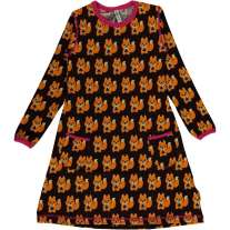 Maxomorra Squirrel LS Dress