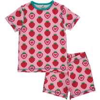 Maxomorra Strawberry Shortie Pyjamas
