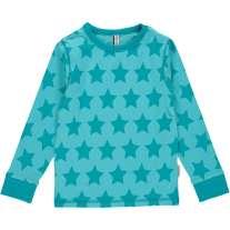 Maxomorra Turquoise Stars LS Top