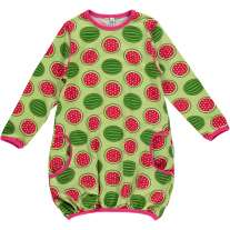 Maxomorra Watermelon LS Balloon Dress