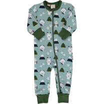 Maxomorra Winter World LS Zip Romper