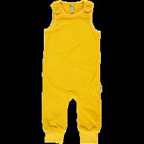 Maxomorra Yellow Velour Dungarees