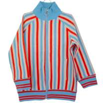Moromini Striped Zip Suit Jacket - Blue & Red