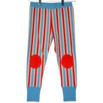 Moromini Striped Zip Suit Pants - Blue & Red