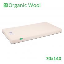 Organic Wool Standard Cot Bed Mattress 70x140