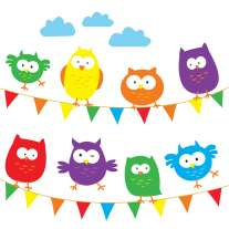 Babipur Owl Bunting Greetings Card