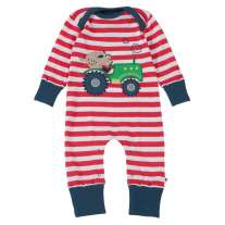 Piccalilly Tractor and Pig Applique Playsuit