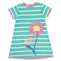 Piccalilly Turquoise Stripe Meadow Tunic Dress