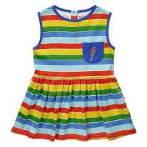 Piccalilly Rainbow Stripe Dress