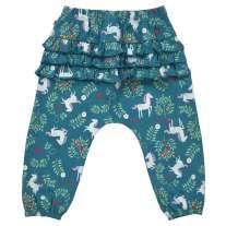 Piccalilly Unicorn Ruffle Back Trousers