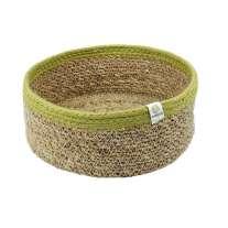 ReSpiin Medium Shallow Seagrass & Jute Basket
