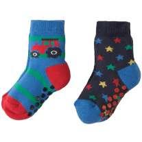 Frugi Tractor Grippy Socks x2