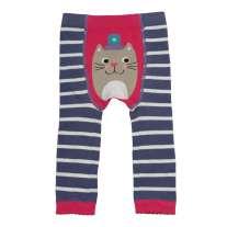 Frugi Violet Cat Knitted Leggings