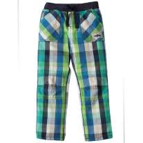 Frugi Green & Blue Check Theo Trousers
