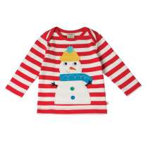 Frugi Snowman Bobby Applique Top