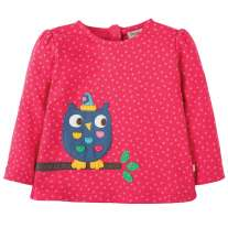 Frugi Owl Connie Applique Top